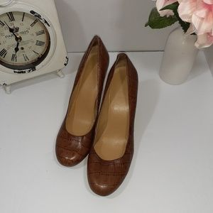 Nine West Faux Croc Heels